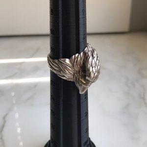 Man's Sterling Eagle Ring